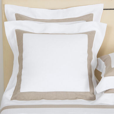 Purity Bicolore Linen Sham