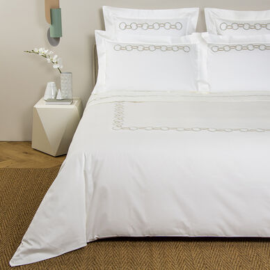 Links Embroidered Duvet Cover image