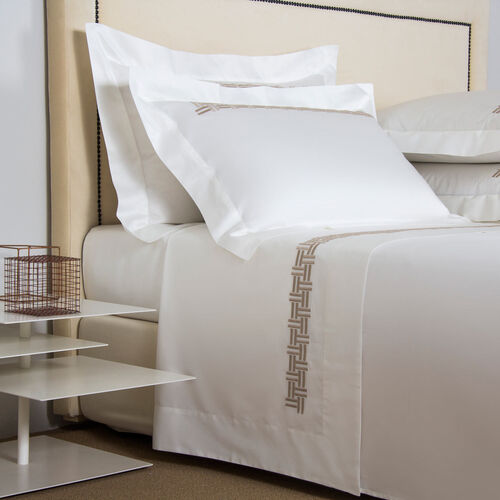 Basket Weave Embroidered Sheet Set