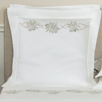 Lotus Flower Embroidered Euro Sham image