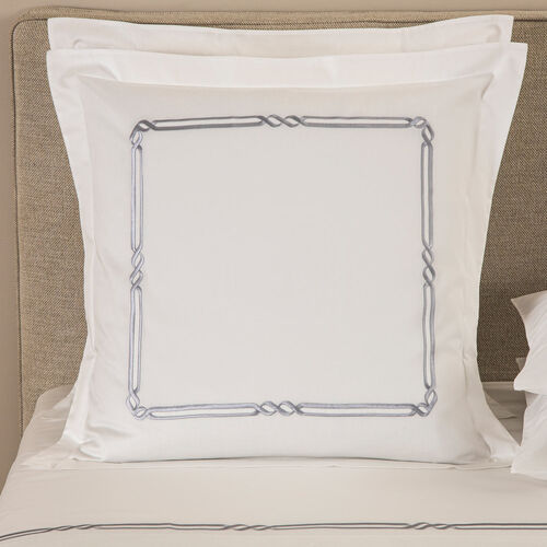 Frame Embroidered Euro Sham