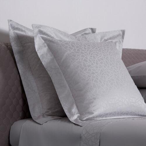 Groove Decorative Euro Pillowcase Pearl Grey