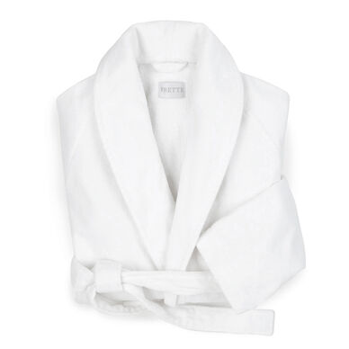 Velour Shawl Collar Robe White