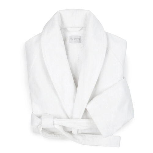 Velour Shawl Collar Robe White  1a735cc68