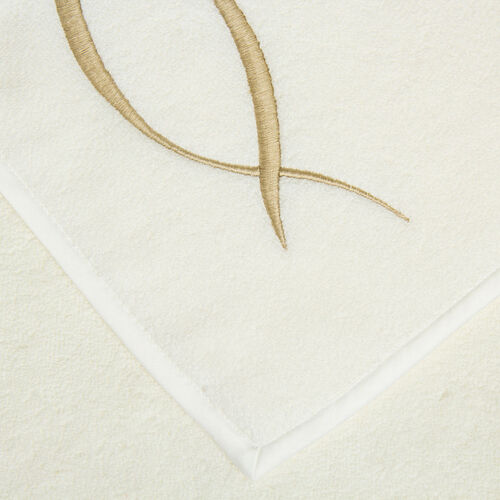 Lotus Flower Embroidered Bath Towel