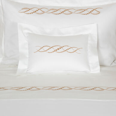 Pearls Embroidered Boudoir Sham image