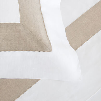 Purity Bicolore Linen Sham