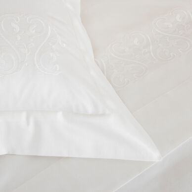 Ornate Medallion Embroidered Euro Sham