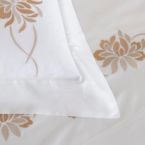 Lotus Flower Embroidered Sheet Set