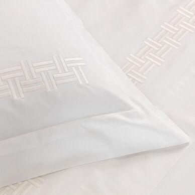 Basket Weave Embroidery Euro Sham hover image