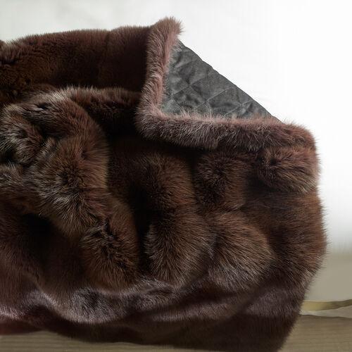 Brown Fox Fur Throw