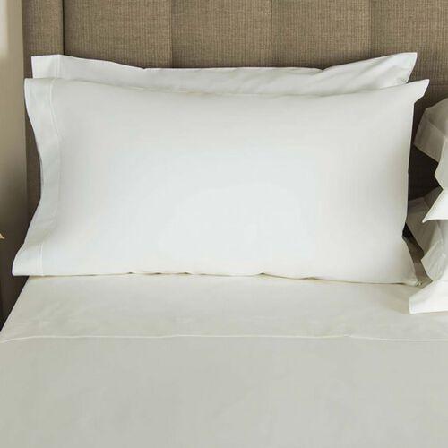 FRETTE 2x King Pillowcases ITALY WHITE 1Bourdon Embroider New
