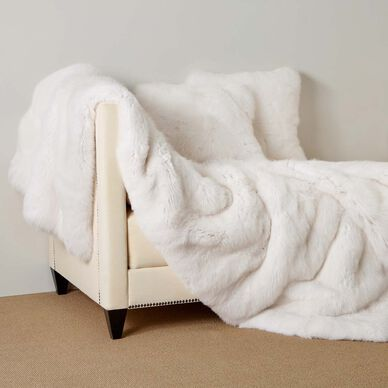 Shadow Fox Fur Throw