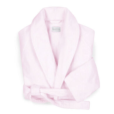 Velour Shawl Collar Robe Rose image
