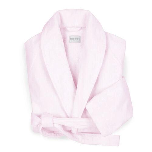 Velour Shawl Collar Robe Rose