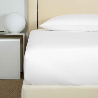 Cotton Sateen 600 TC Fitted Bottom Sheet