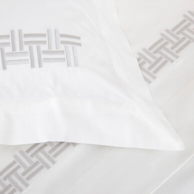 Basket Weave Embroidery Euro Sham hover image