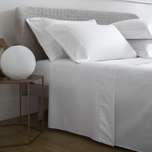 Terragona Border Sheet Set White
