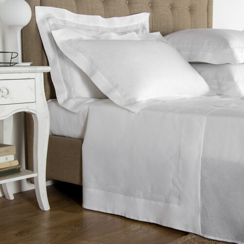 Purity Doppio Ajour Linen Sheet Set