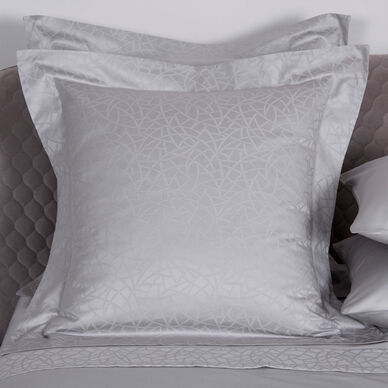 Groove Decorative Euro Pillowcase Pearl Grey
