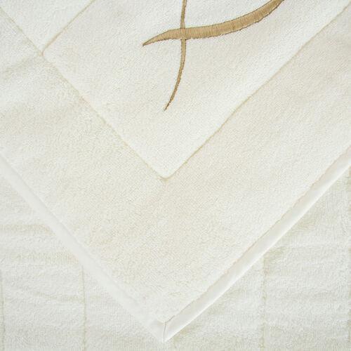 Lotus Flower Embroidered Bath Mat