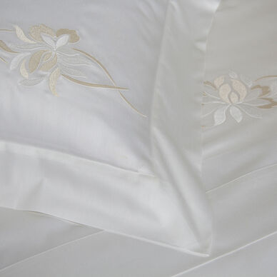 Lotus Flower Embroidered Boudoir Sham hover image