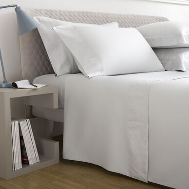 Terragona Border Sheet Set Pearl Grey