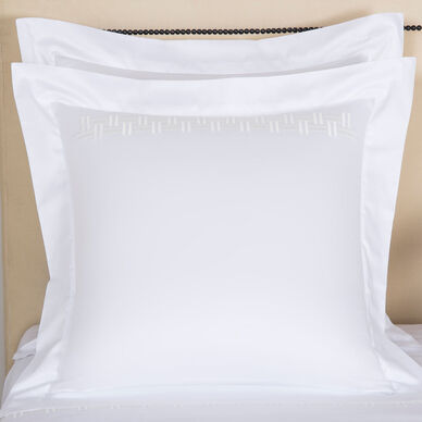 Basket Weave Embroidered Euro Sham image