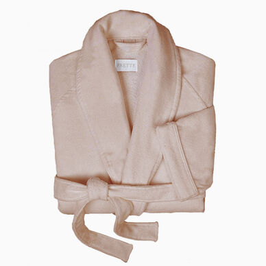 Velour Shawl Collar Robe Taupe