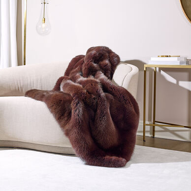 Brown Fox Fur Throw