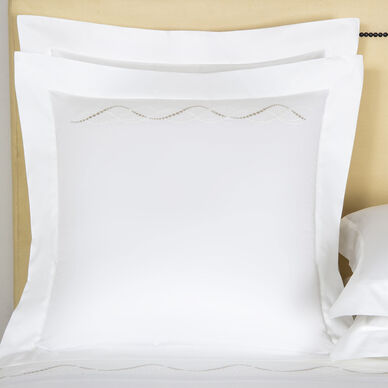 Luminescent Pearls Embroidered Euro Sham image