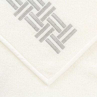 Basket Weave Embroidered Guest Towel hover image