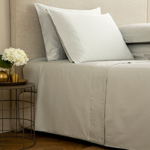 Imperial Border Sheet Set Pearl Grey