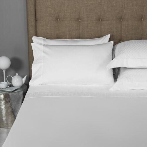 Savona Border Sheet Set White