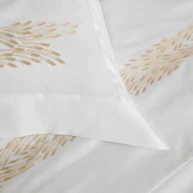 Fountain Embroidered Euro Sham