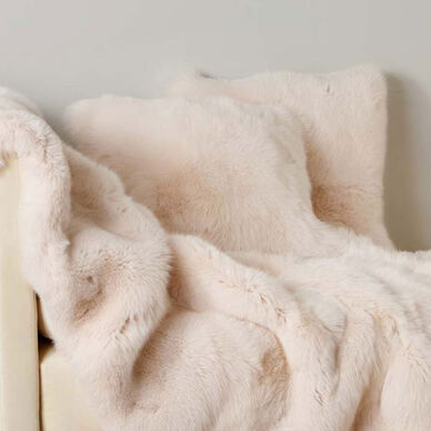 Luxury Fox Fur Decorative Pillow