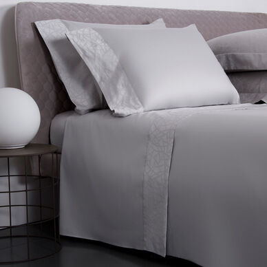 Groove Border Sheet Set Pearl Grey