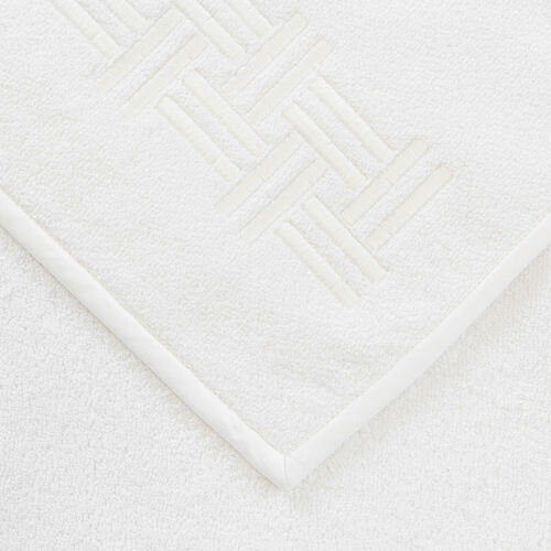 Basket Weave Embroidered Guest Towel