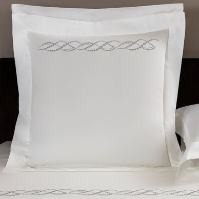 Pearls Embroidered Euro Sham image