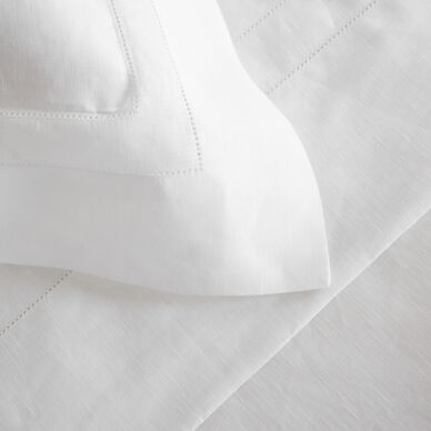 Purity Doppio Ajour Linen Duvet Cover