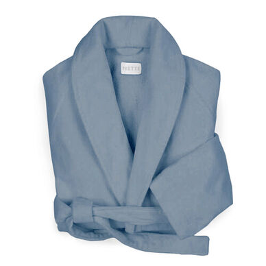 Velour Shawl Collar Robe Grey image