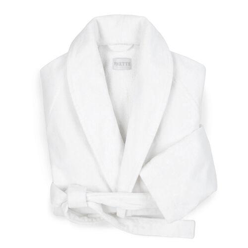 Velour Shawl Collar Robe White