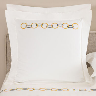 Links Embroidered Euro Sham image