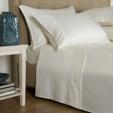 Savona Border Sheet Set Ivory