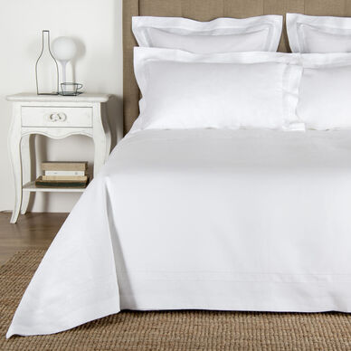 Purity Doppio Ajour Linen Duvet Cover