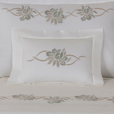 Lotus Flower Embroidered Boudoir Sham image