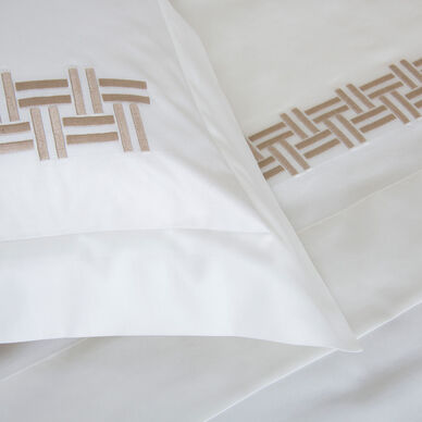 Basket Weave Embroidered Sham