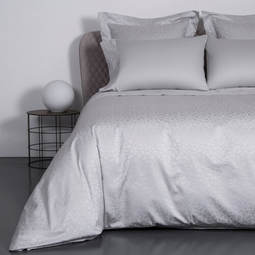 Groove Duvet Cover Pearl Grey