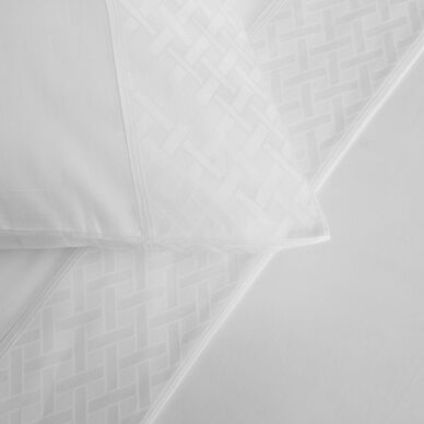 Savona Border Sheet Set White