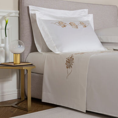 Lotus Flower Embroidered Sheet Set image